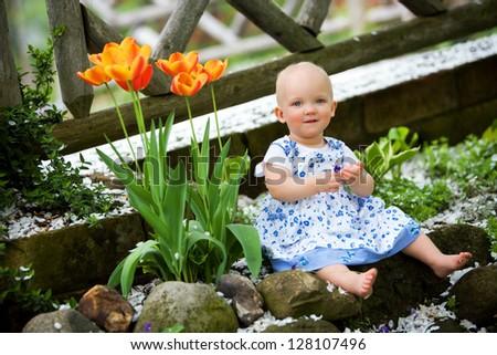 Spring Baby. - stock photo