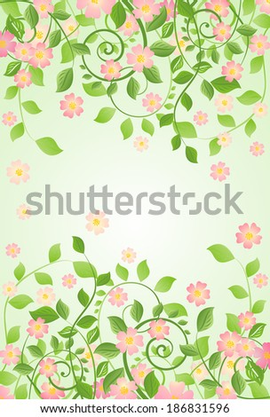 Spring banner with apple-tree blossom - stock photo