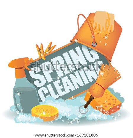 Spring Cleaning Icon. Jpg. - stock photo