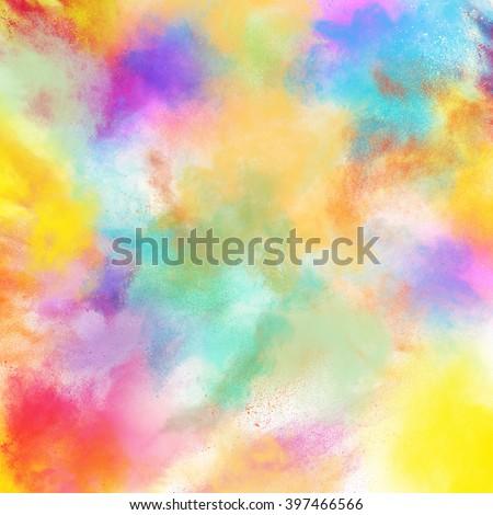 Spring colourful burst - stock photo