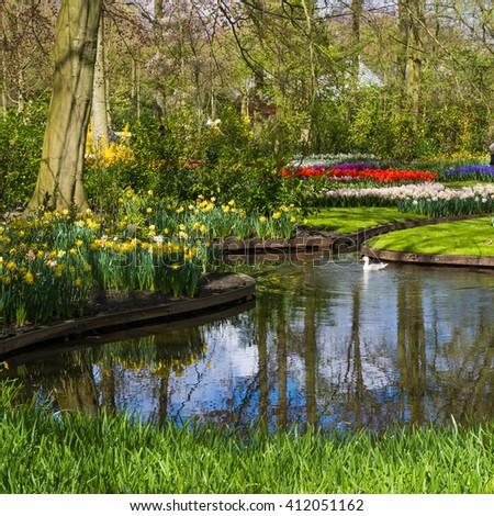 spring garden - stock photo