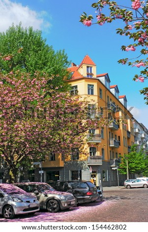 Spring in Berlin - stock photo