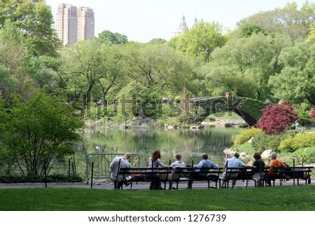 Spring in Central Park - stock photo