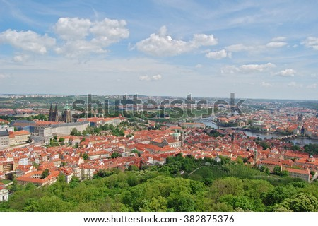 Spring in Prague. Czech republic. Beroun Hill. - stock photo