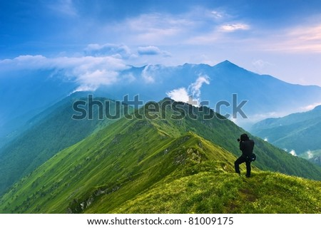 Spring mountains landscape - stock photo