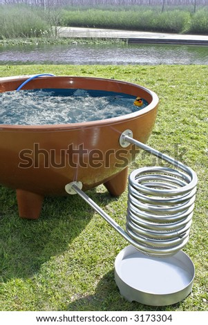spring park and spa bath - stock photo
