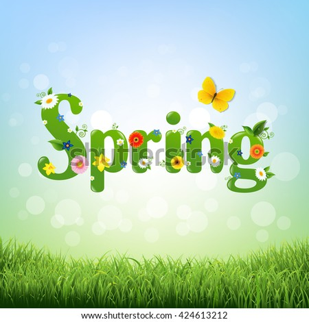 Spring Poster  - stock photo