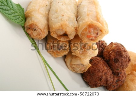 spring roll, cuisine asiatic