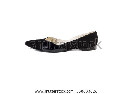Spring shoes on a white background, online catalog