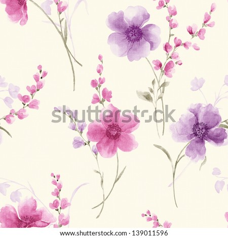 Spring style seamless background pattern - For easy making seamless pattern use it for filling any contours - stock photo