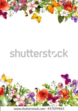 Spring summer garden flowers grass herbs stock illustration spring summer garden flowers grass herbs butterflies floral pattern mightylinksfo