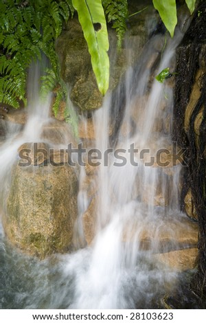 spring time river view - stock photo