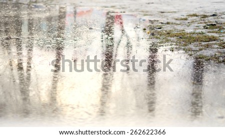 spring water surface - stock photo
