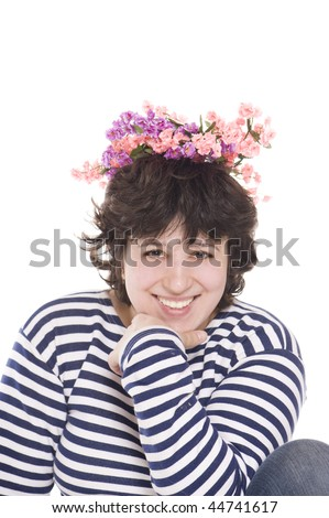 spring woman - stock photo