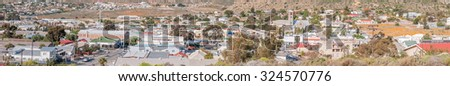 SPRINGBOK, SOUTH AFRICA - AUGUST 17, 2015: Panorama of Springbok, the largest town in the Northern Cape Namaqualand region
