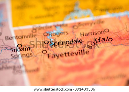 Springdale. Arkansas. USA - stock photo