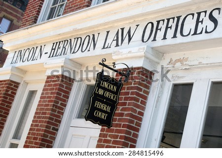 SPRINGFIELD, IL-MAY, 2015:  Abraham Lincoln's law offices in Springfield, IL.   - stock photo
