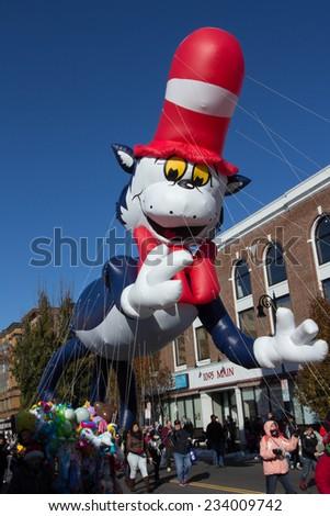 Springfield, MA - November 28 2014  -Tower Square Parade of the Big Balloons - stock photo