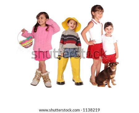 springtime friends gather for a fun time - stock photo
