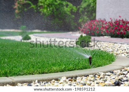 Sprinkler - stock photo