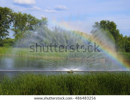 Sprinkling device Spraying system on water Rainbow