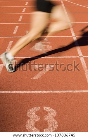 Sprinter finishes the race