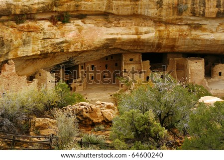 Spruce Tree House, Mesa Verde National Park - stock photo