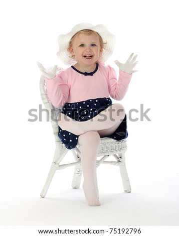 Spunky Little Animated Girl - stock photo