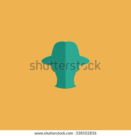 Spy. Colored simple icon. Flat retro color modern illustration symbol - stock photo