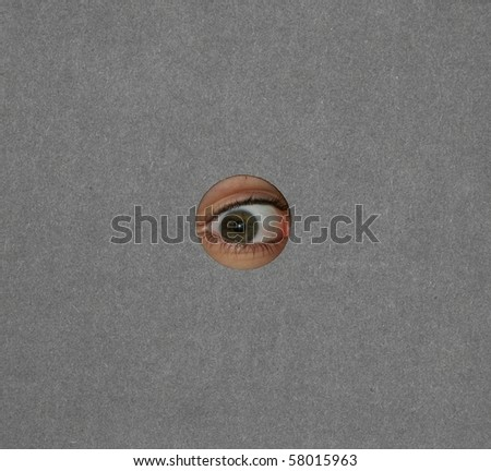 Spy is watching - stock photo