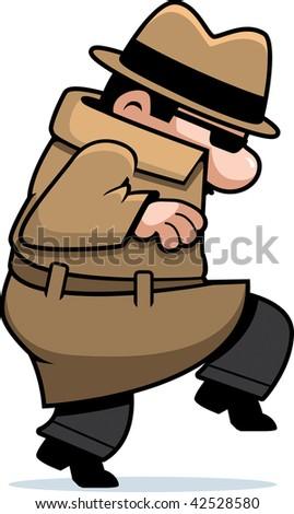 Spy Sneaking - stock photo