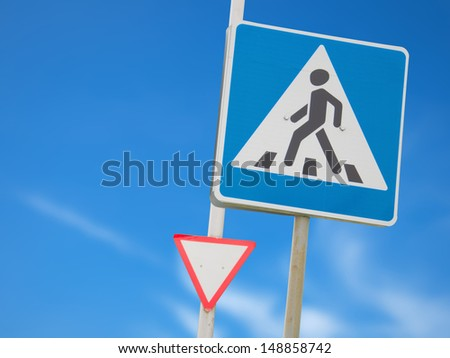 Square and triangle - stock photo