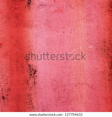 square background texture from old red Venetian wall plaster - stock photo