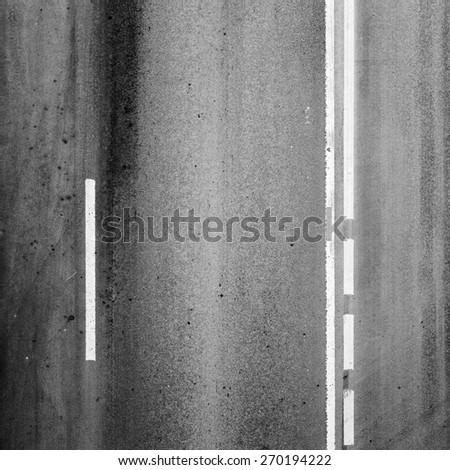 Square background texture of an asphalt road with marking lines - stock photo