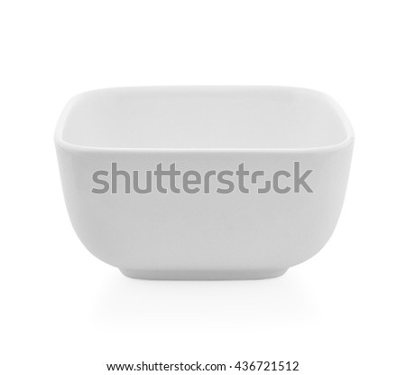 Square Bowl empty on white background