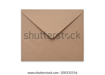 Square Brown envelope on a white background.