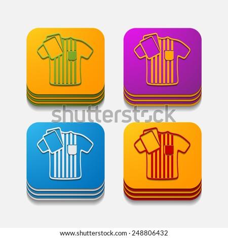 square button: referee - stock photo