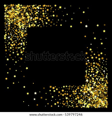 Gold Glitter Texture On Black Background Stock Vector - Golden gold birthday invitation background