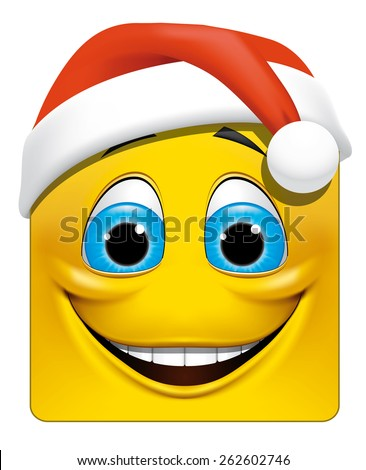 Square emoticon christmas - stock photo