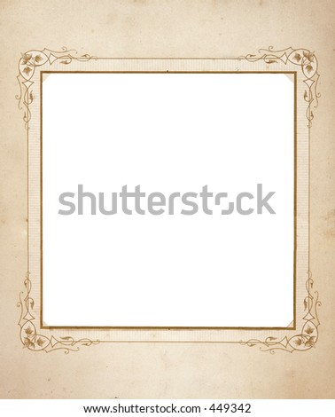 Square format Antique frame with grunge. - stock photo