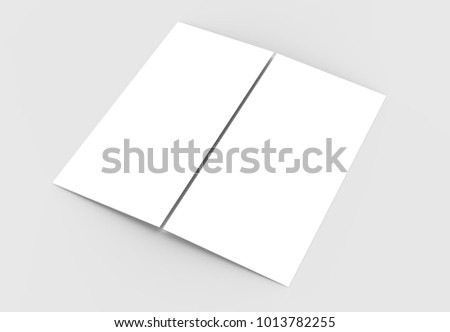 Square Gate Fold Brochure Mock Isolated Stock Illustration