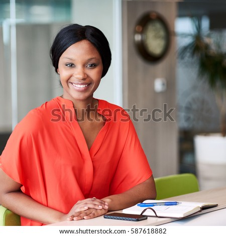 square image happy african woman smiling stock photo 587618882 shutterstock. Black Bedroom Furniture Sets. Home Design Ideas