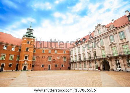 Square in Royal Castle at downtown, Warsaw, capital of Poland, Europe