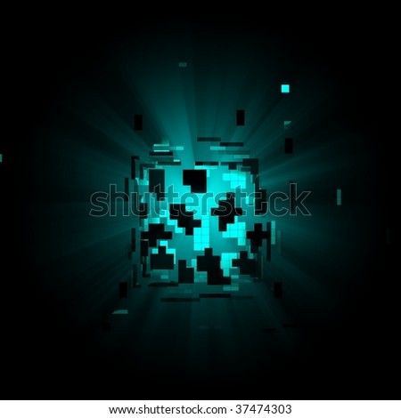 square  light puzzele - stock photo