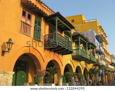 Square of carriages, downtown of Cartagena de Indias (Colombia)