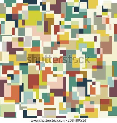 Square pixel seamless pattern. Raster version - stock photo