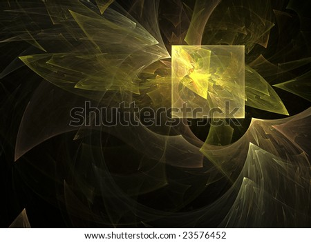 Square shaped abstract on black background