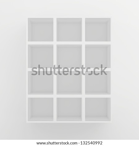 square shelves - stock photo
