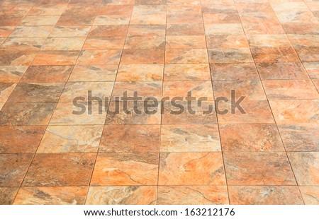 Square stone brick floor - stock photo