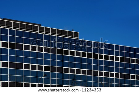 Square windows of a city office block